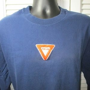 hanes beefy T Shirts - Vtg. 90's Pearl Jam Stitched Yield Sign T-Shirt XL